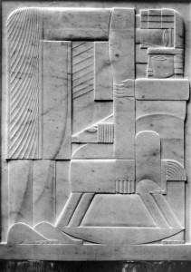 Kleine ruiter 1924, gekleurd gips,  37,5  x  29 cm Caroline & Maurice Verbaet Collection, Antwerpen.