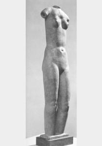 Pureté 1945, terracotta/brons. 78 x 18 x 13 cm versch. verblijfpl.